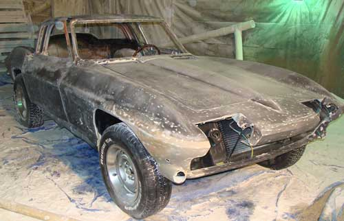 Corvette after paint and rust are removed