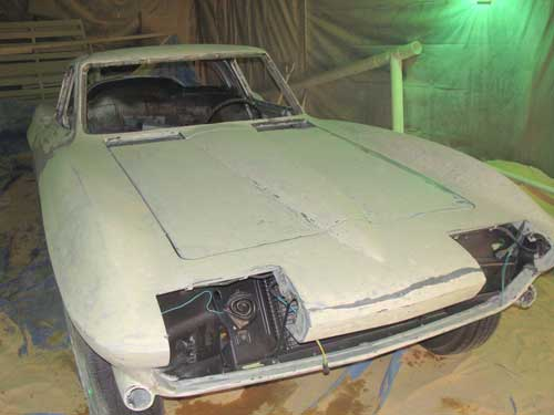 Corvette before paint removal